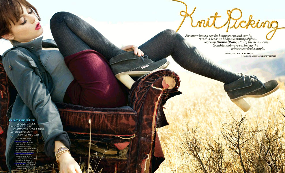 Emma-Stone-Knit Picking