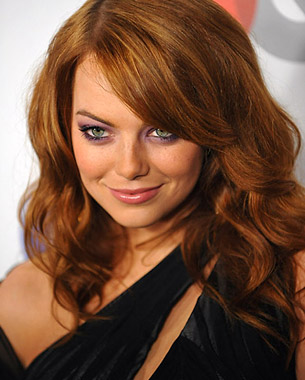 emma stone smokey eyes