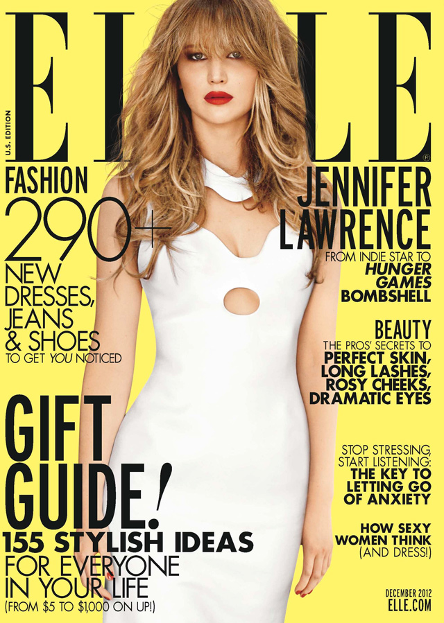 Elle Magazine France February March: Jennifer Lawrence: Elle Magazine Dec 2012