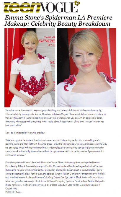 Teen Vogue: Emma Stone's Spiderman LA Premiere Press