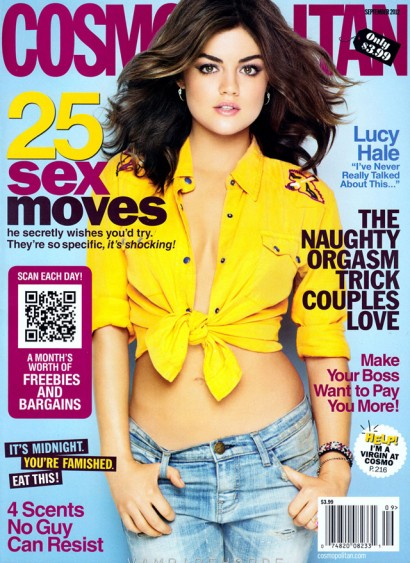 Lucy Hale: Cosmopolitan Sept 2012