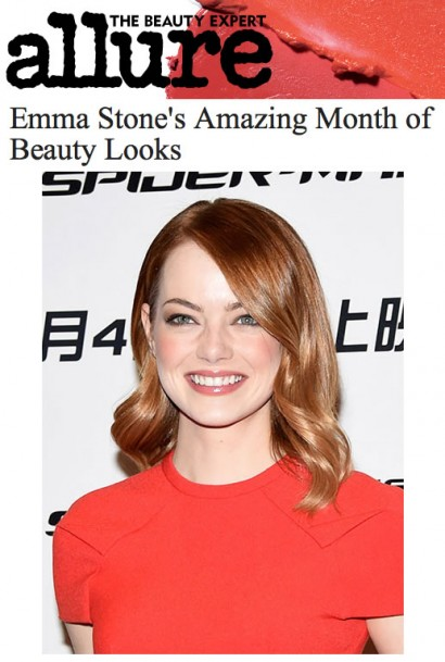 Allure Emma Stone's Amazing Month