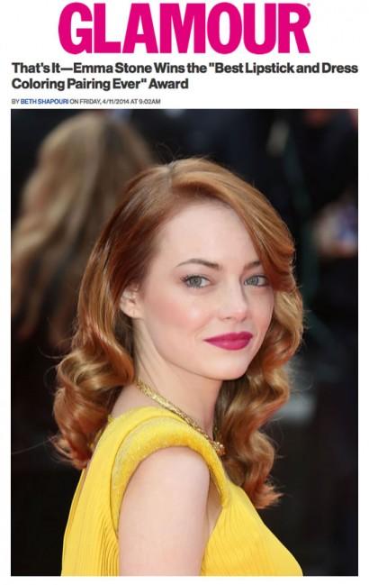 Glamour-Emma Stone Best Lipstick Pairing