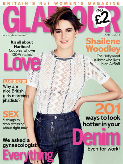 Shailene Woodley: Glamour UK MAR 2015