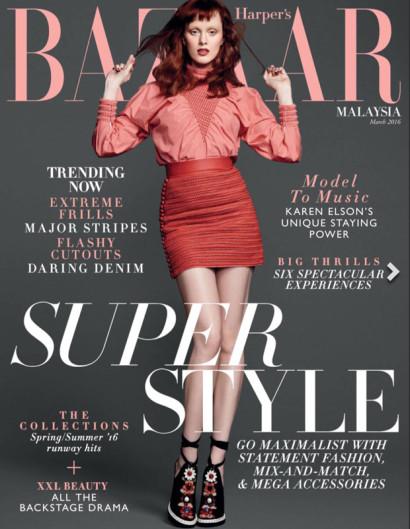 Karen Elson Harper's Bazaar MAR 2016