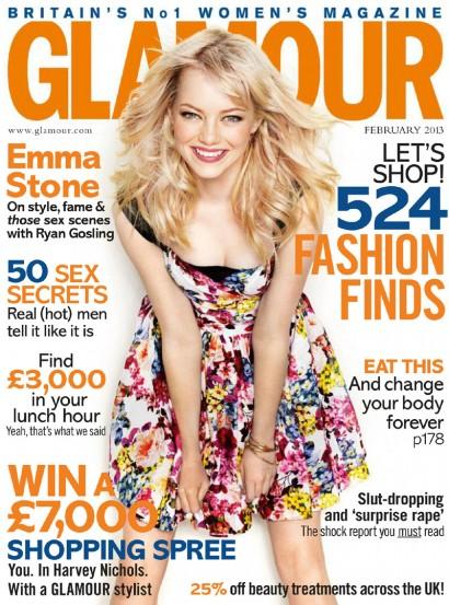 Emma Stone: Glamour UK 2013